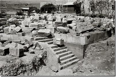 Capernaum, ruins of synagogue, mat10654sr