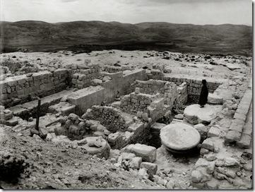 Samaria, Herodian temple remains, mat07375