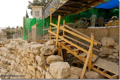 First Wall and Palace of David excavation area, tb102306083