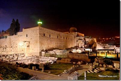 Temple Mount southwestern corner at night, tb031505525ddd