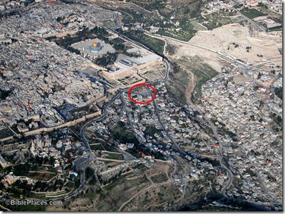 Temple Mount and City of David aerial from sw, tb010703234