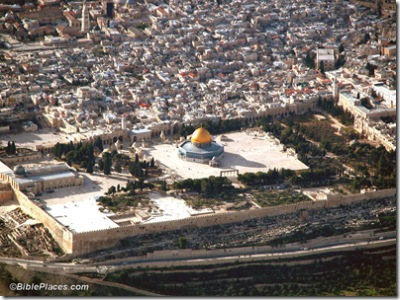Temple Mount aerial from se2, tb q010703