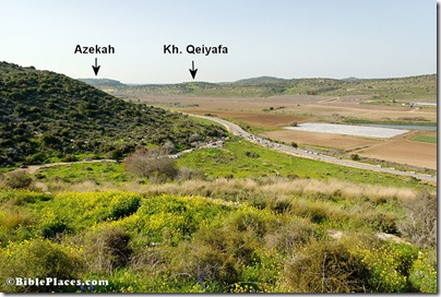 Elah Valley and Azekah view nw from Socoh, tb021707830
