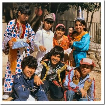 Children in Purim costumes, db810319p175