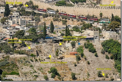 City of David Area G from southeast, tb091306302labeled
