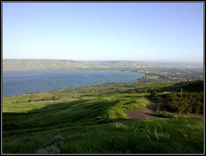 Sea-of-Galilee-southern-end-from-west,-tb041003225-bibleplaces