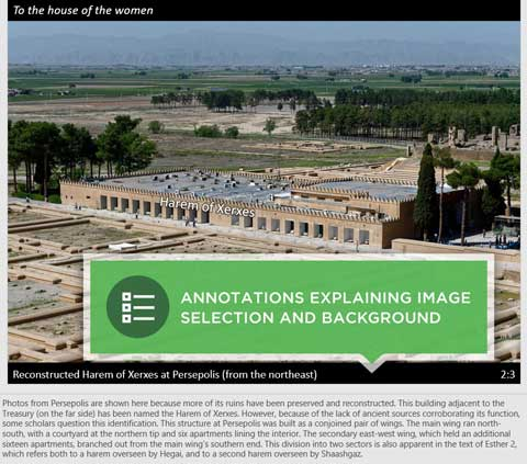 Annotations in Esther Photo Companion to the Bible