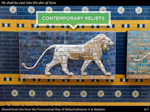 Reliefs in Daniel Photo Companion