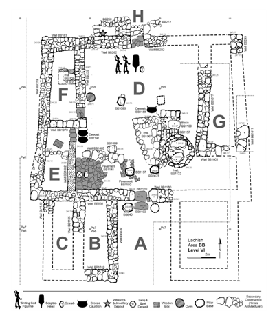 Plan of the North-East Temple_Credit J. Rosenberg.
