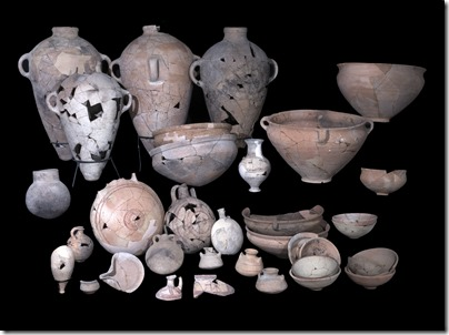 Pottery uncovered in Temple_Credit C. Amit_IAA